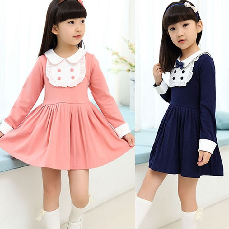 17.85$  Watch here - http://aliltu.shopchina.info/go.php?t=32676207420 - New Student Long Sleeve Dress College Trend Spring Summer Autumn 4-12Years Girls Casual Dresses Elegant Vestidos School Clothing  #magazineonlinewebsite
