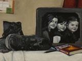 A portrait about Sinéad. Oils on canvas