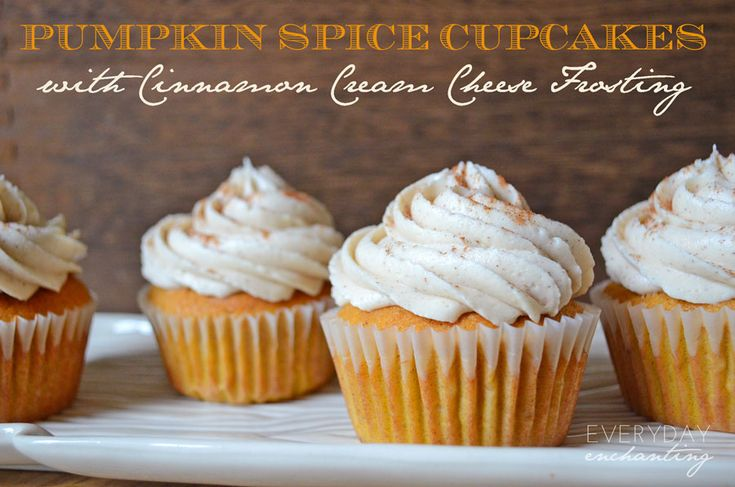 Sweet Treat Tuesday:: My Favorite Pumpkin Spice Cupcakes with Cinnamon Cream Cheese Frosting | EverydayEnchanting.com