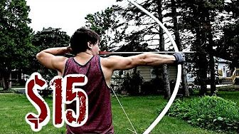 (508) Easy, Cheap, POWERFUL Bow (NO Power Tools or Heat Needed) - YouTube