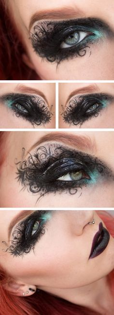Dramatic eye makeup....stunning in every detail ♥