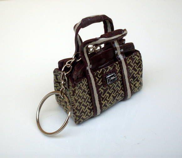 Chaveiro Miniatura Bolsa Tommy Hilfiger
