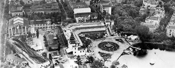 BERLIN 1906, der Lunapark in HALENSEE galt zu Beginn des 20. Jahrhunderts als größter Vergnügungspark Europas. Es gab unter anderem eine sechs Kilometer lange Berg- und Talbahn, eine Wasserrutschbahn und ein Theaterhaus.