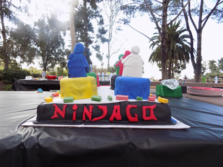 The back of the birthday cake