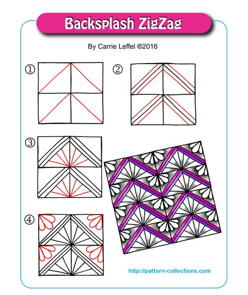 Backsplash ZigZag by Carrie Leffel