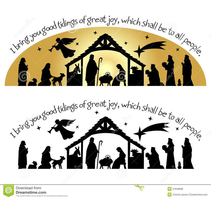 Nativity Christmas Silhouette Eps