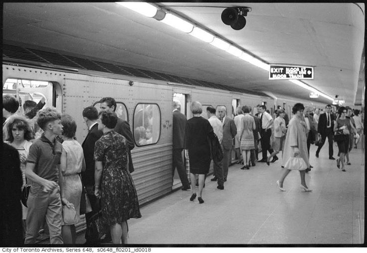 By the 1960s the TTC Subway was a busy mode of transport throughout the booming metropolis.