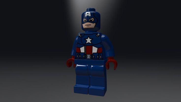 This is the Lego version of Captain America based on the movie Avengers
