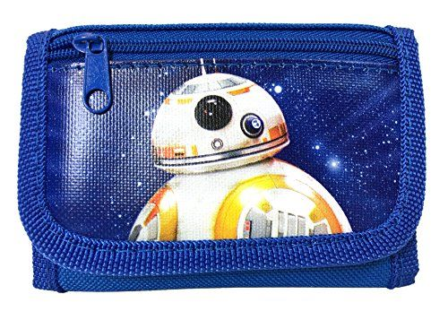 "New Disney Star Wars ""The Force Awaken"" New Robot BB-8 Tri Fold Wallet - Blue //Price: $5.18 & FREE Shipping //     #starwarscollection"