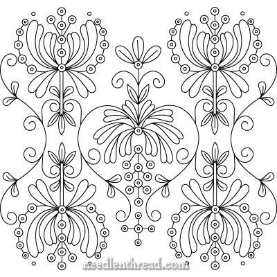 Diseños de bordado a mano libre: Art Nouveau
