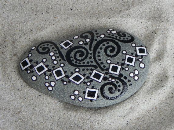 SquareDance / Painted Rock / Sandi Pike Foundas by LoveFromCapeCod