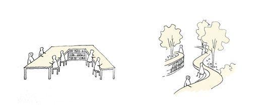A Hidden Garden Behind the Concrete Walls,Design Concept