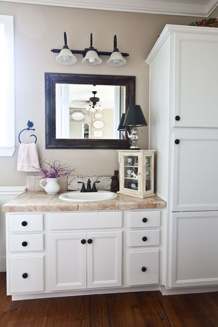 country bathroom cabinets step inside a farmhouse decorated with charming 14131