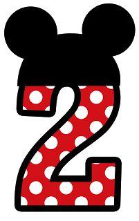 Números para montagens digitais tema Minnie e Mickey