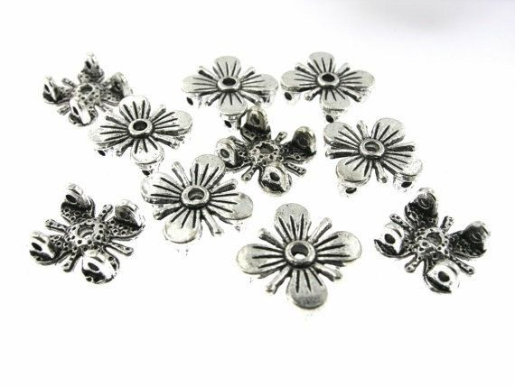 20 pcs 12mm Antique Oxidized Silver 2 by FancyGemsandFindings, $3.75