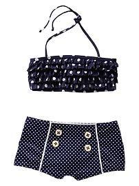 toddler girl swimsuit polka dots shorts - Google Search