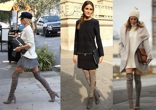 Botas over the knee cinza