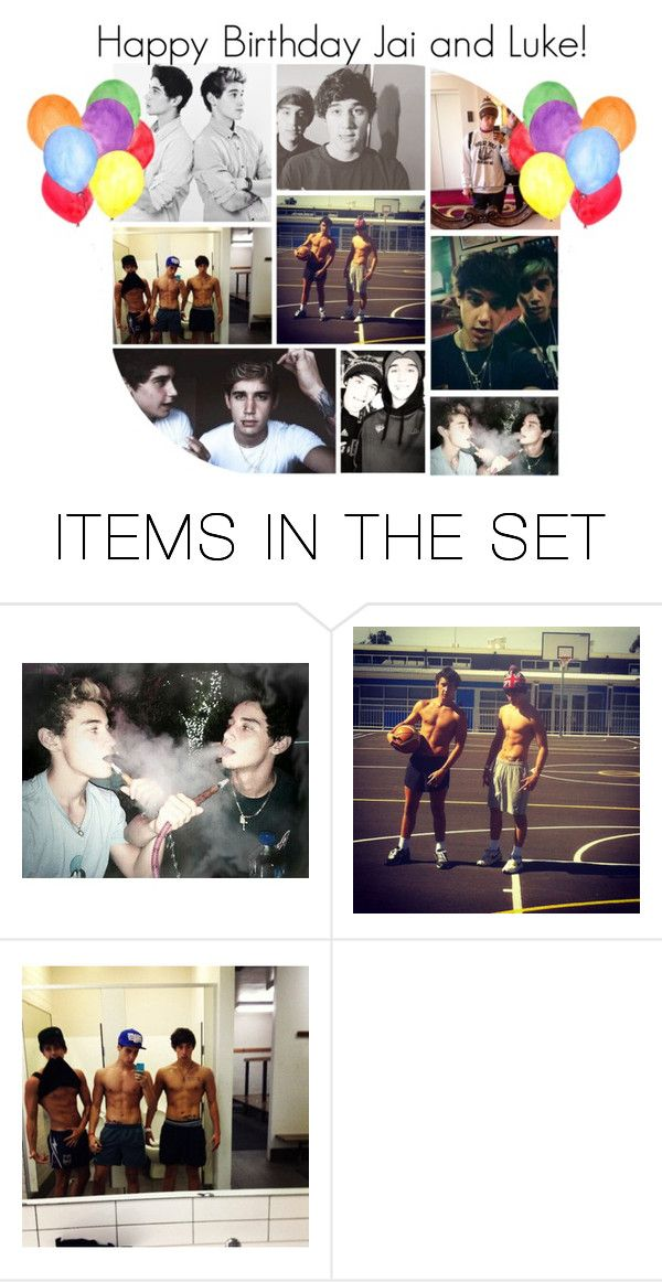 """""""Happy Late Birthday to the Boys!"""" by mish-ell ❤ liked on Polyvore featuring art"""