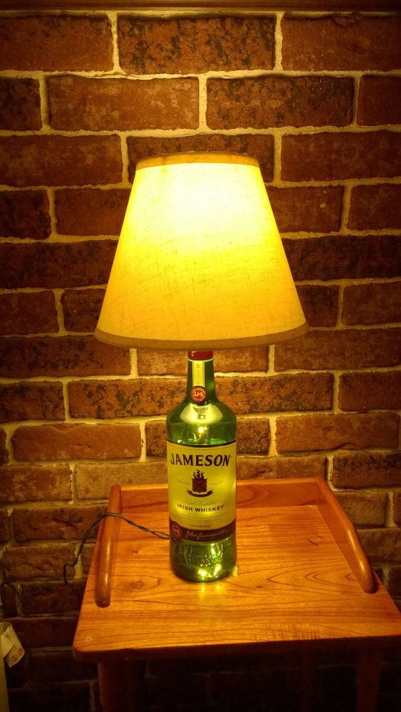 JAMESON LIQUOR BOTTLE LAMP WITH LAMPSHADE AND LIGHTS INSIDE, MAKES GREAT GIFT #jameson