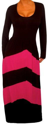 FUNFASH BLACK PINK CHEVRON LONG SLEEVES MAXI DRESS WOMEN Plus Size 1X 18 20 Funfash,http://www.amazon.com/dp/B00HQ1KWQ8/ref=cm_sw_r_pi_dp_u0uftb1C5C8PF9XE