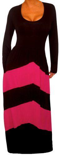 FUNFASH BLACK PINK CHEVRON LONG SLEEVES MAXI DRESS WOMEN Plus Size 1X 18 20 Funfash,http://www.amazon.com/dp/B00HQ1KWQ8/ref=cm_sw_r_pi_dp_u0uftb1C5C8PF9XE