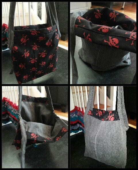 Denim bag from old jeans