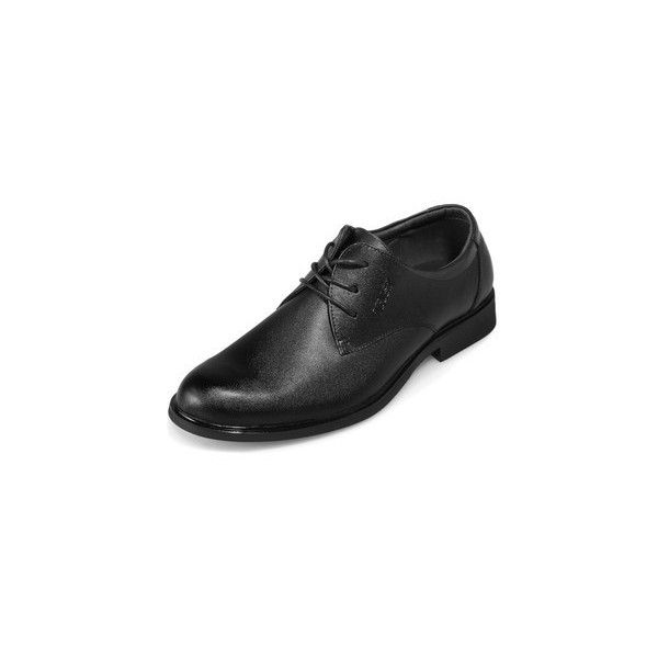 Genuine Leather Derby Shoes ($31) ❤ liked on Polyvore featuring shoes, oxfords, footware, leather footwear, kohl shoes, black leather shoes, black shoes and leather oxfords
