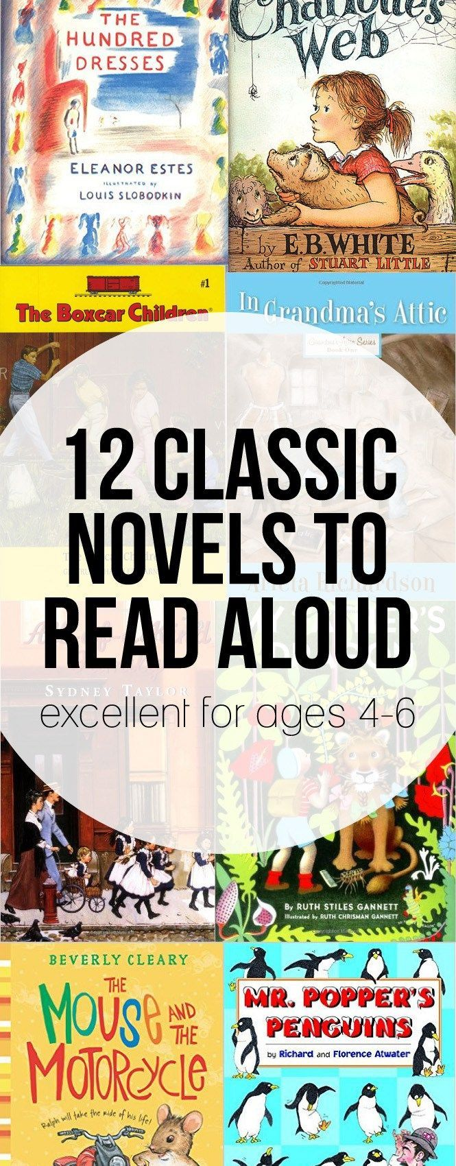 Classic novels to read aloud for Kindergarten (and those aged 4-6). Kindergarten Classic Novels