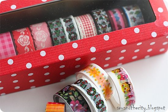 sew and the city: Washi Tape Box