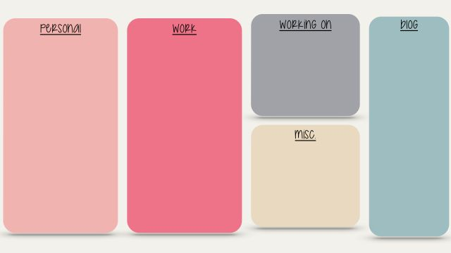 Pink grey Block colour desktop organizer wallpaper background