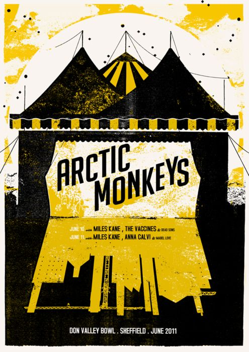 artic monkeys gig posters | don valley bowl | Tumblr