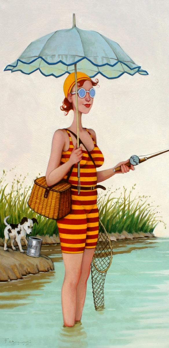 """Fred Calleri, """"Bait and Switch"""", 36 x 18, Oil on Canvas 