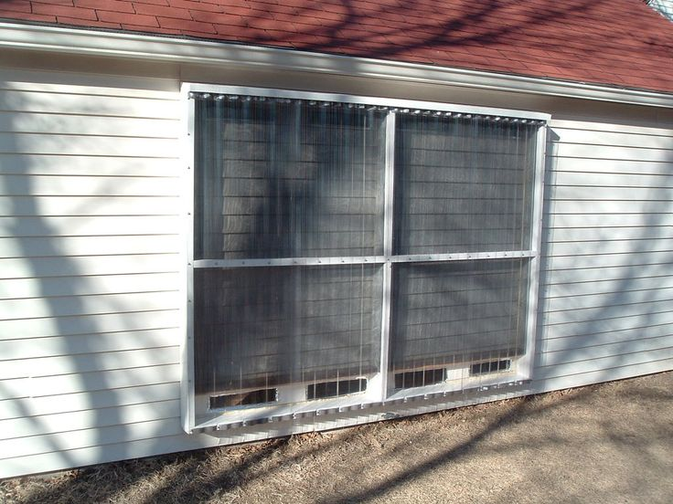 Solar heater on solar and garage for Tin can solar heater