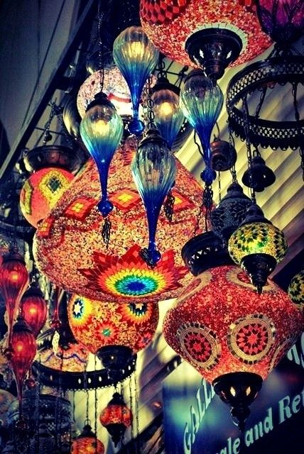 beautiful lamps and decor