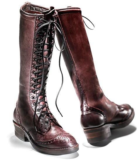 Wesco Carrie Linn Boot  (I'm thinking I'd rather have these in black, though.)