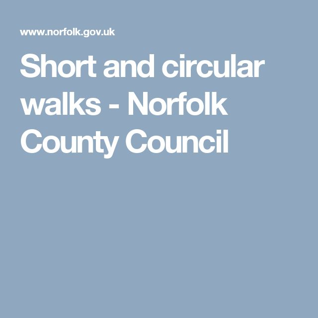 Short and circular walks - Norfolk County Council