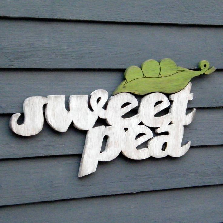 Sweet Pea Sign Pea Pod Child Baby Nursery by SlippinSouthern (Etsy)