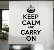 Keep Calm - Κουρτίνα Μπάνιου