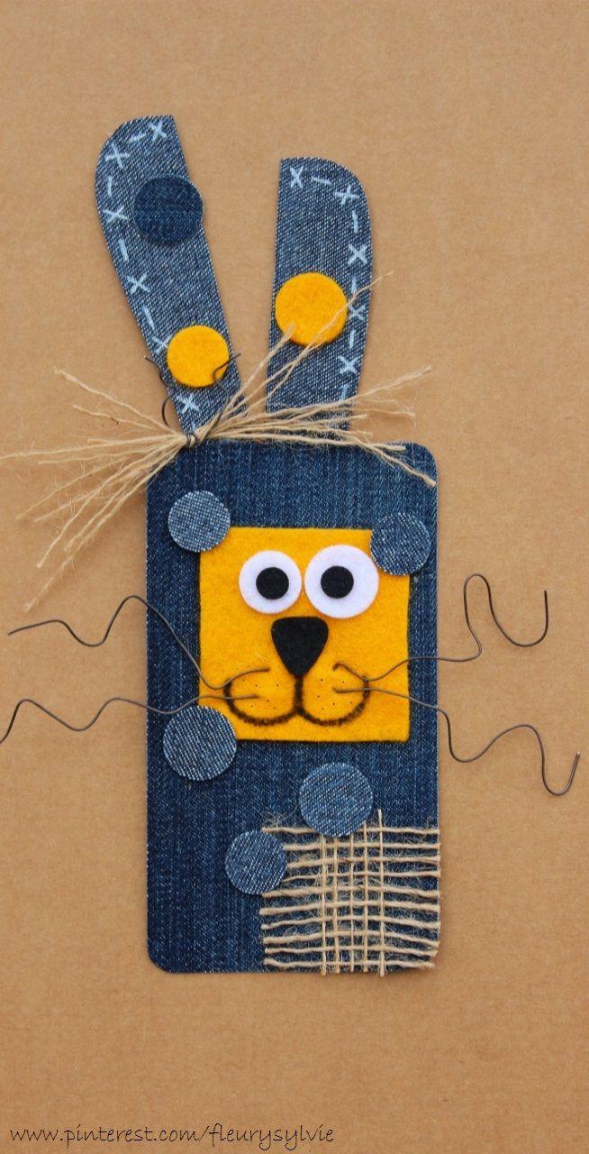 Monsieur Le Lapin-Plein-d'Pois! #recyclage #jeans http://pinterest.com/fleurysylvie/mes-creas-la-collec/ et www.toutpetitrien.ch