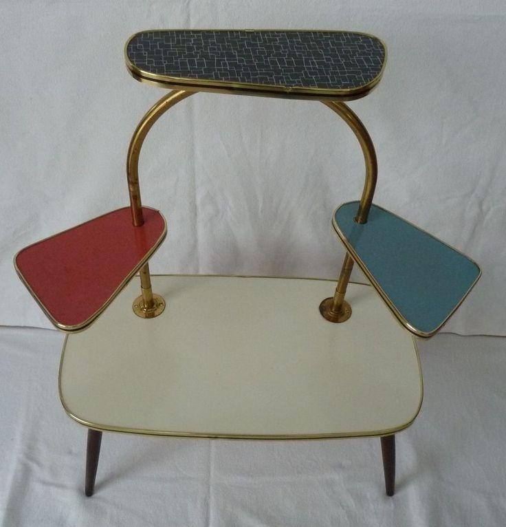 alter Nierentisch Tisch Beistelltisch Blumenbank Etagentisch 50/60er Jahre in Antiquitäten & Kunst, Design & Stil, 1960-1969 | eBay