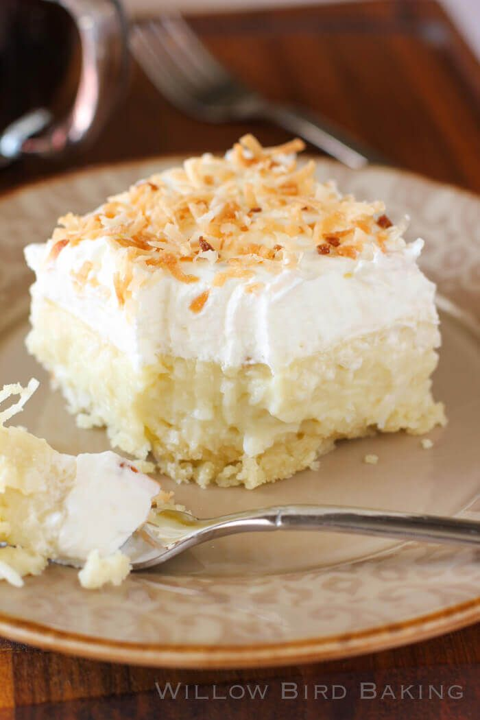 They're a heavenly mix of creamy coconut, a cloud of whipped cream atop a buttery shortbread crust. It doesn't get any better than this for a coconut fan!