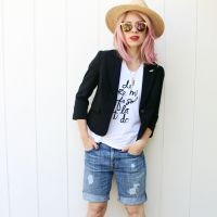 Singer/songwriter Brooke White of the Girls with Glasses shows you how to make your own boyfriend shorts and 8 ways to wear them, only at Babble!
