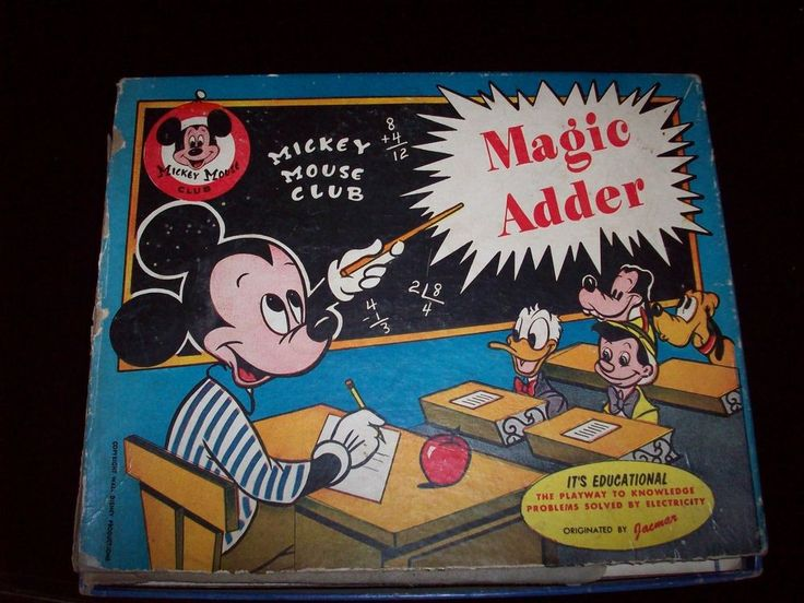 Vintage Mickey Mouse Club Magic Adder Battery Operated Math Toy 1950s