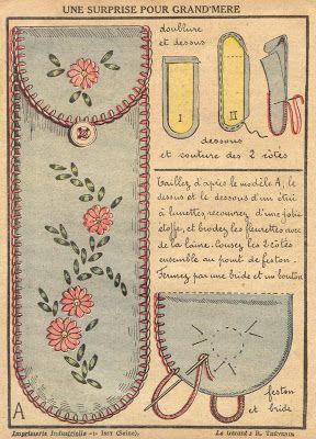 Little Grey Bungalow: Vintage Sewing - Glasses Case for Grandmere