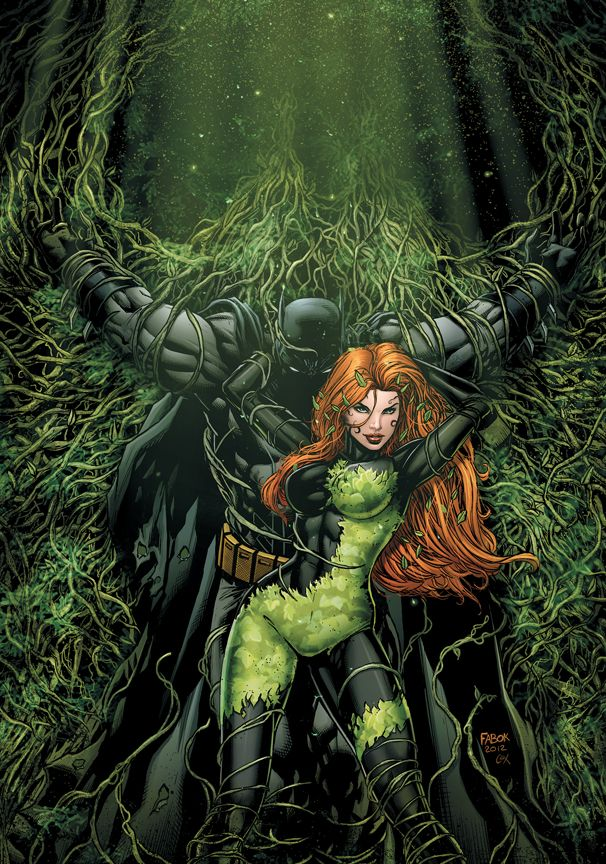 Poison Ivy is an enemy of Batman and she olso can use her powers on superman. She is depicted as one of the world's most prominent eco-terrorists. She is obsessed with plants, botany, and environmentalism. She uses toxins from plants and her own bloodstream for her criminal activities, which are usually aimed at protecting the natural environment. She creates love potions that ensnare Batman, Superman, and other strong-willed individuals.she is one of the only one who can get in between...