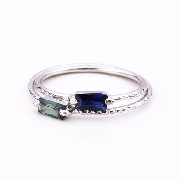 Step Silver Ring - Blue Sapphire | Jane Heng Jewellery