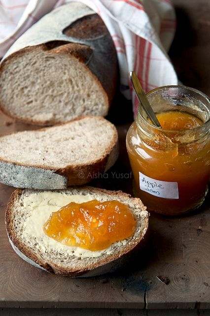 Fresh bread and home made preserves
