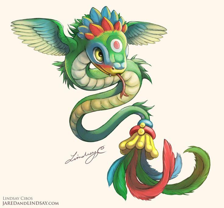 Quetzalcoatl Hatchling by LCibos.deviantart.com on @DeviantArt