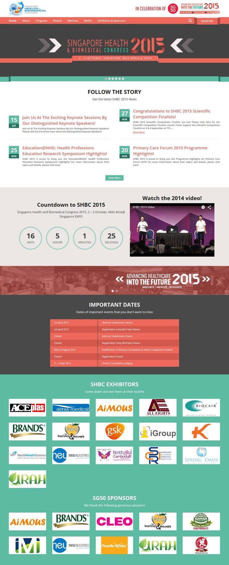 Website SHBC 2015 Keynote, Health care, Health