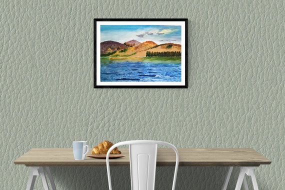 Blessington Lakes Painting by PaintingsbyPhilomena on Etsy